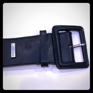 Calvin Klein Black Leather Belt